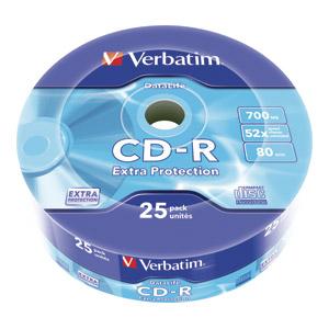 CD-R VERBATIM 700MB 1/25