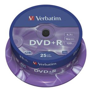 DVD-R VERBATIM 4,7GB 1/25
