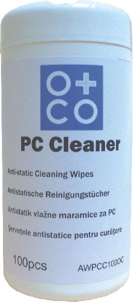 Vlažne maramice za PC 1/100,O+CO