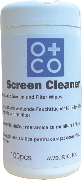 Vlažne maramice za ekran 1/100,O+CO
