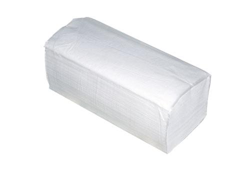 Toaletni samosloživi ubrus u listićima, 22,5, x 22,5 cm, V falta, 200 listića/ klip, 100% celuloza, laminirani, 2 sloja, 20 klipova u bali