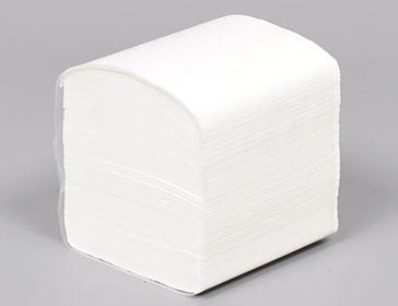 Toaletni samosloživi  papir u listićima 200 listića/klip, 11,5 x 11,5 cm, 100% celuloza, laminirani, vodorastvorivi, 2sloja, 40 klipova u bali