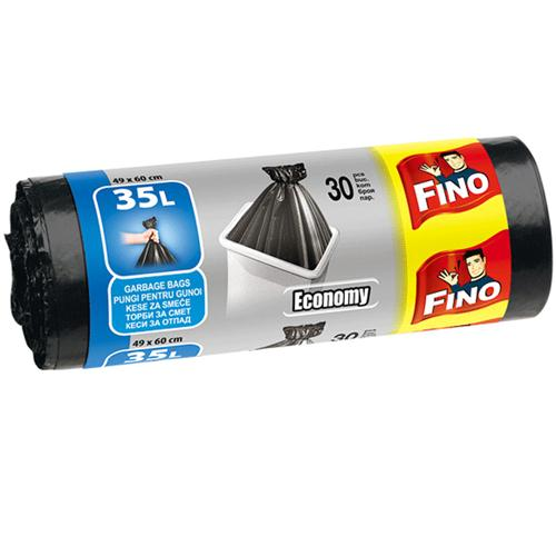 Fino kese za smeće, economy, HD, 35l, crna, 30 kom