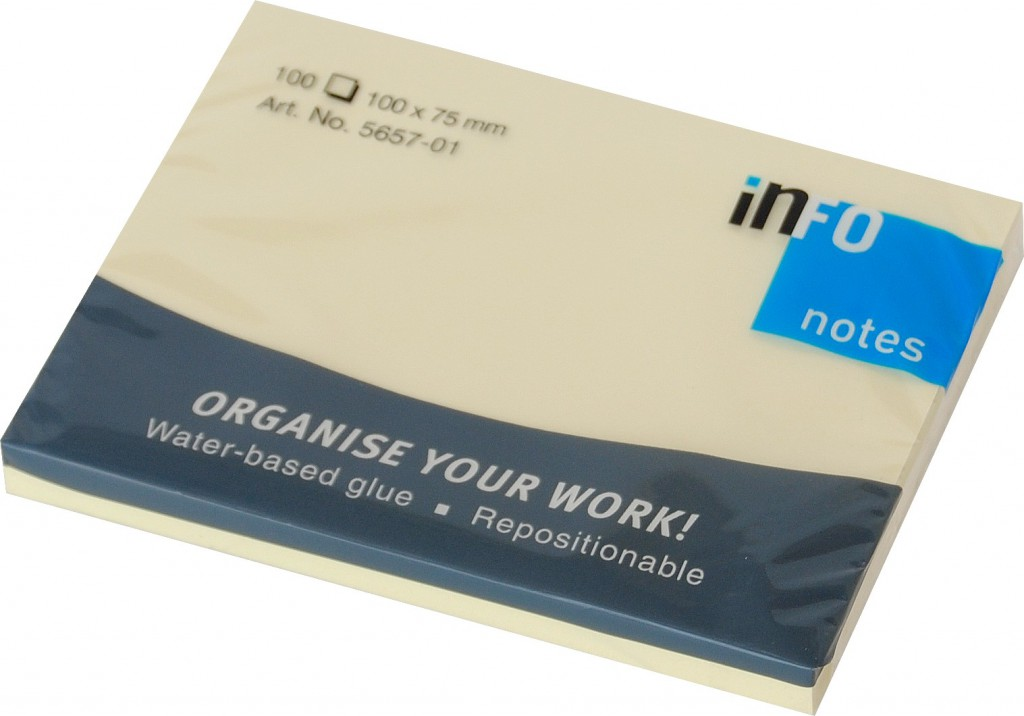 Post it INFO NOTES 100x75