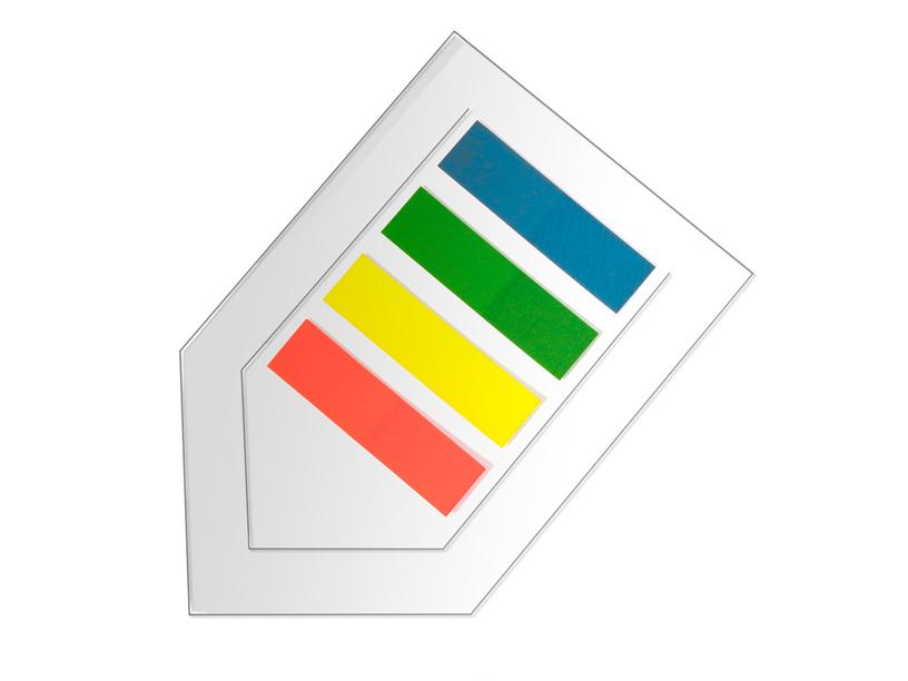 Page Marker Info set sa obeleživačem za notes, 4x10 listića