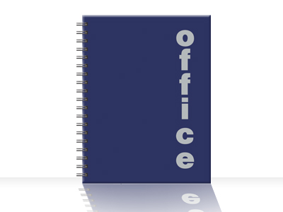 Kancelarijski blok za beleške A4, spirala sa strane , karo