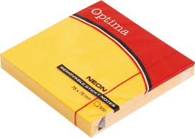 Post it OPTIMA NEON 75x75, narandžasti, 100 listova