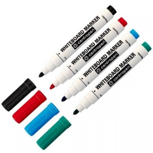 Marker za belu tablu  CENTROPEN, mod. 8559, set 4/1, 4 boje
