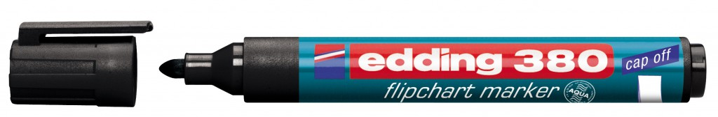 Marker za flipchart tablu EDDING, mod. 380, 1/1, 4 boje, zaobljeni vrh