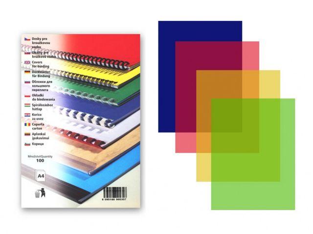 PVC korice providne u boji: crvena, pink, plava, žuta, zelena, dim siva , ljubicasta, 150 mic, 1/100