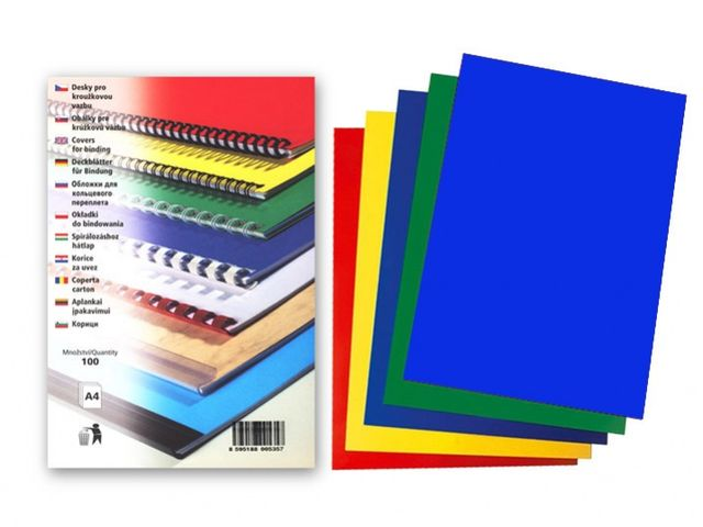 Kartonske korice reljefne, vise boja A4, 230 g, 1/100