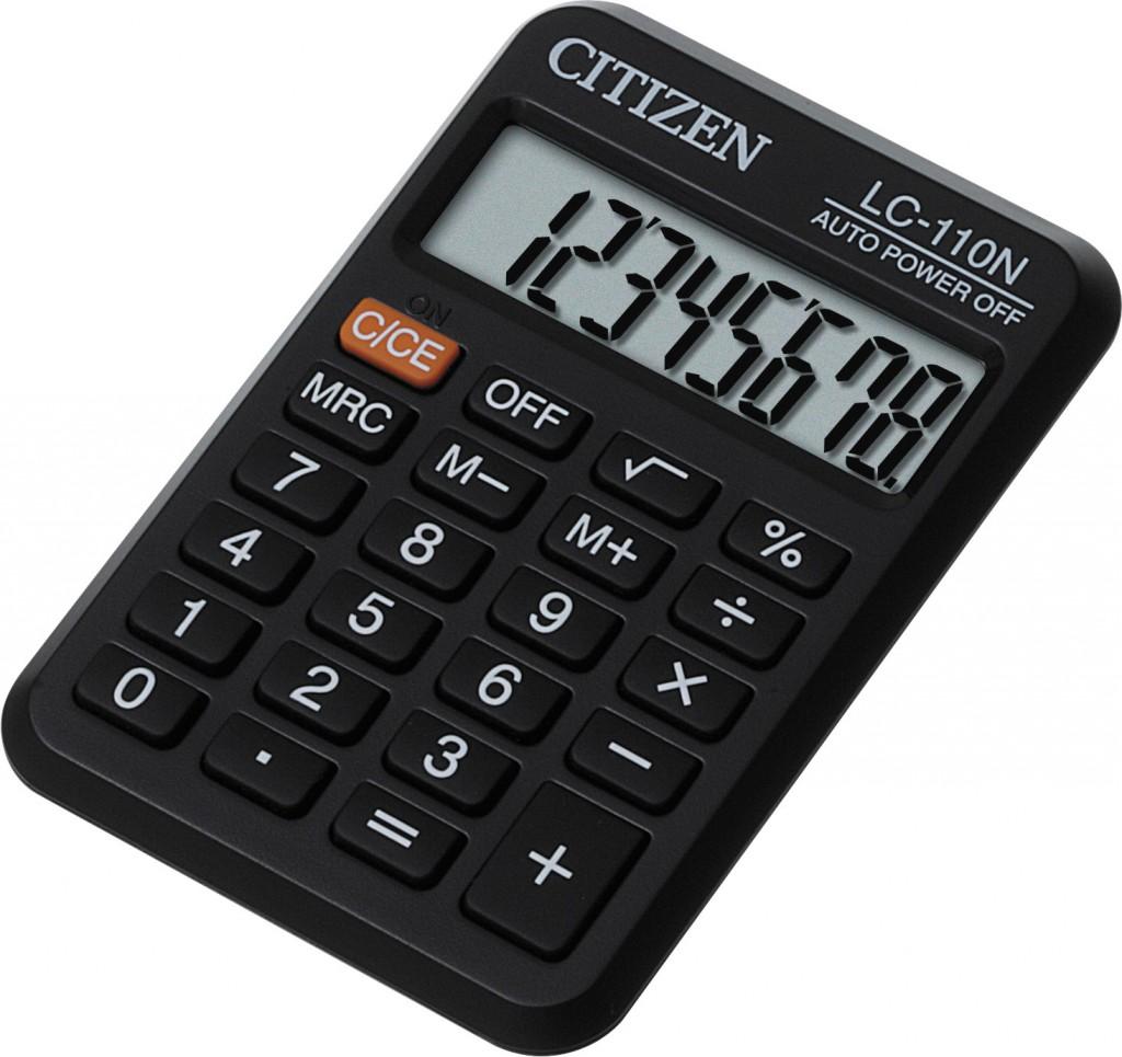 Kalkulator džepni CITIZEN LC 110N crni
