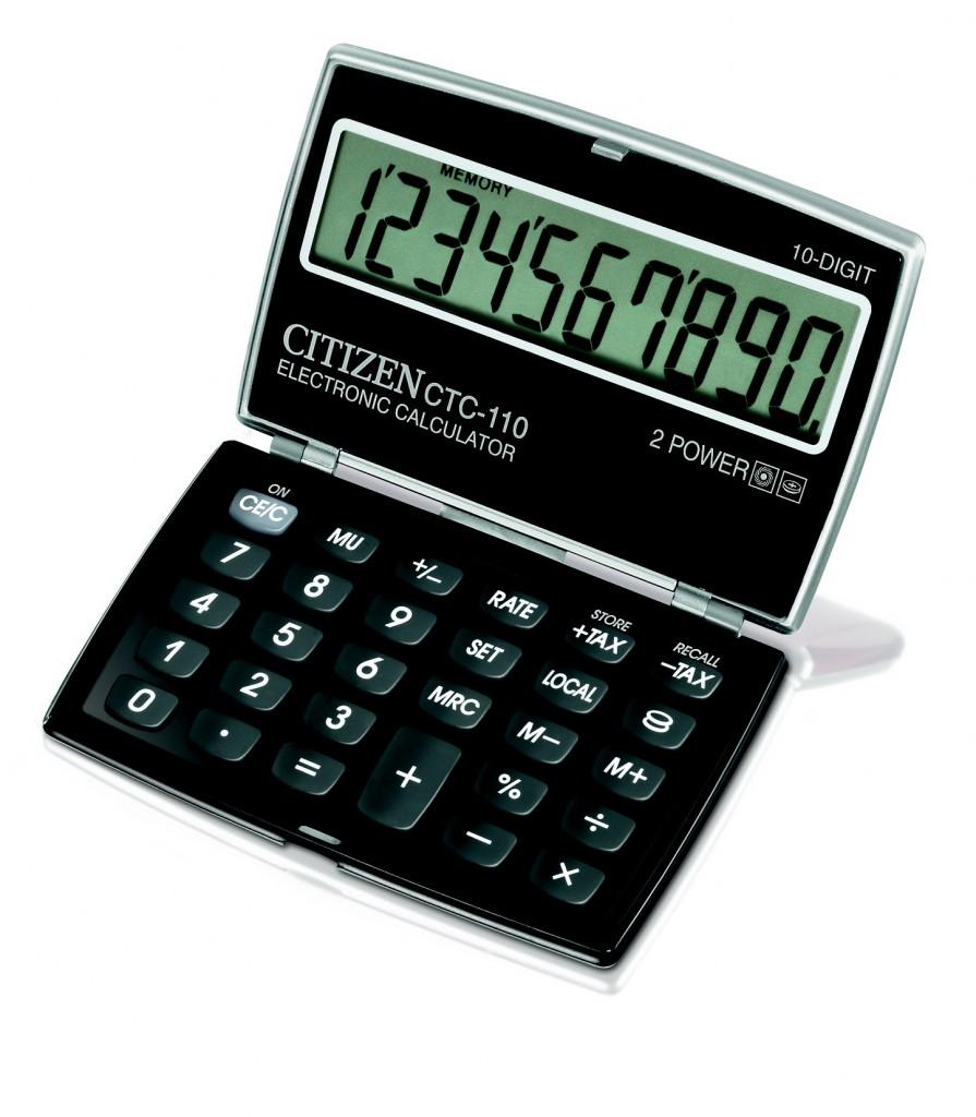 Kalkulator džepni na preklop CITIZEN CTC 110 kolor