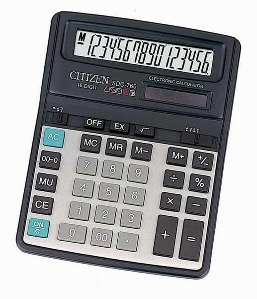 Kalkulator stoni CITIZEN SDC 760