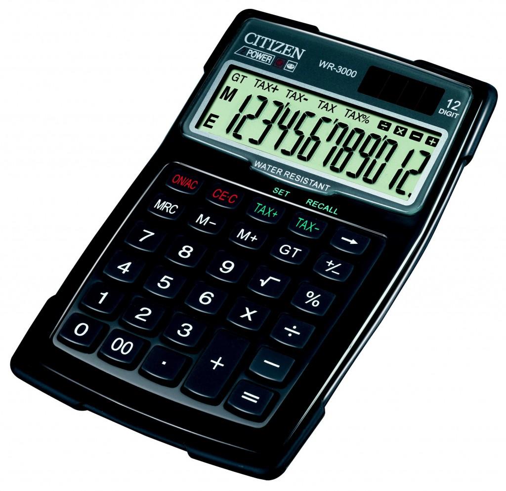 Kalkulator vodootporni CITIZEN WR-3000